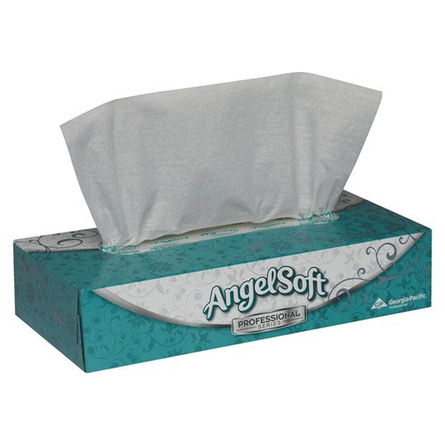 Angel Soft PS Facial Tissue - Flat Box