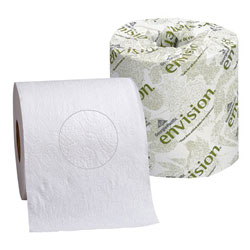 Embossed Bathroom Tissue, 1-Ply Toilet Paper Roll