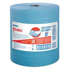 WypAll X80 Wiper Jumbo Roll w/ Hydroknit - Blue - 475 Wipes KCC41043