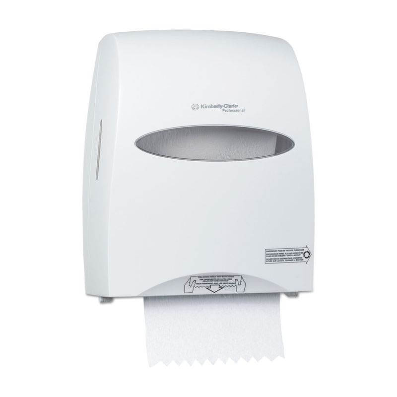 Sanitouch Hard Roll Paper Towel Dispenser - Pearl White KCC09995