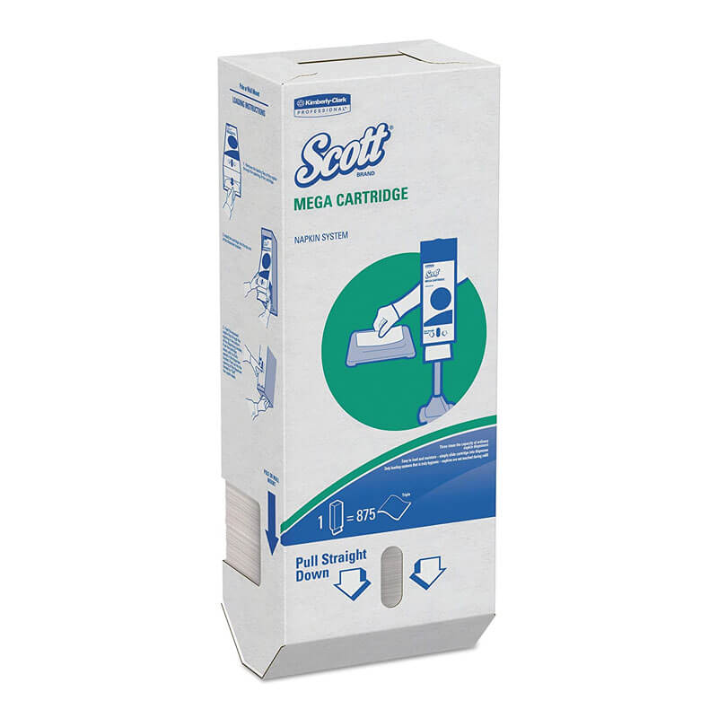 Scott Mega Cartridge 1-Ply Dispenser Napkins