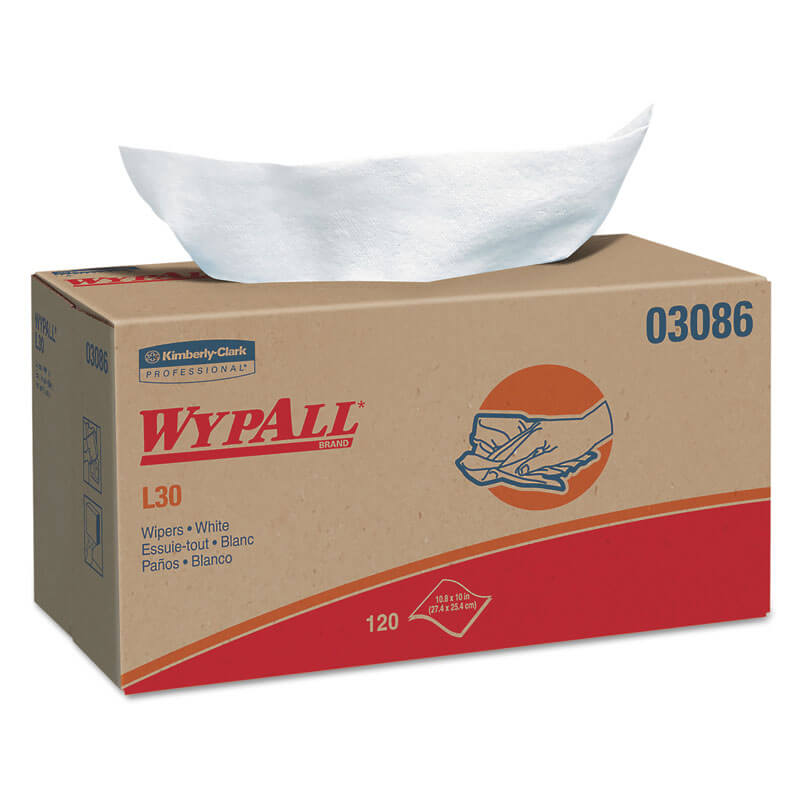 WYPALL L30 Wipers, POP-UP Box, 10 x 10 4/5, White, 120/Box ...