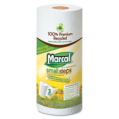 Marcal Small Steps Paper Roll Towels, 2-Ply