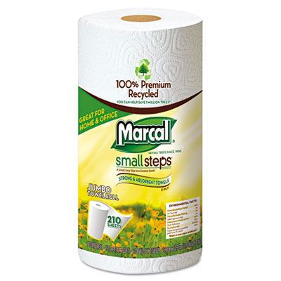 Marcal Small Steps Jumbo Roll Paper Towel, 2-Ply