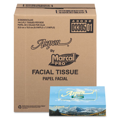 Aspen 2-Ply Facial Tissue