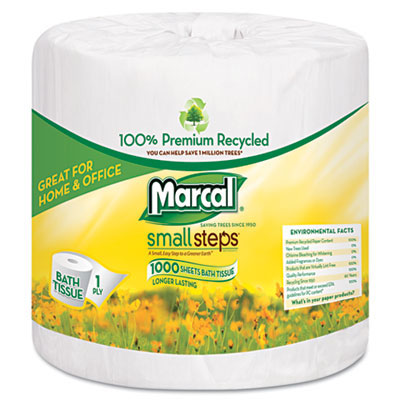 Marcal Small Steps 1 Ply Toilet Paper Roll