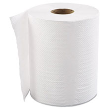 "8"" x 800 ft. White Hardwound Roll Towels, 1-Ply - 6 Rolls GEN8X800HWTWH"