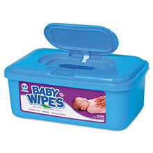 Baby Wipes Tub, Scented, White, 80/Tub RPPRPBWS-80