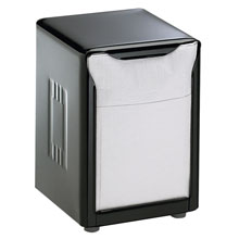 Tabletop Napkin Dispenser, Low Fold, Black