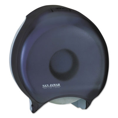 San Jamar Single Jumbo Bath Tissue Dispenser, Transparent Black