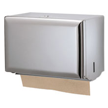 San Jamar Standard Key-Lock Singlefold Towel Dispenser, Steel, Chrome