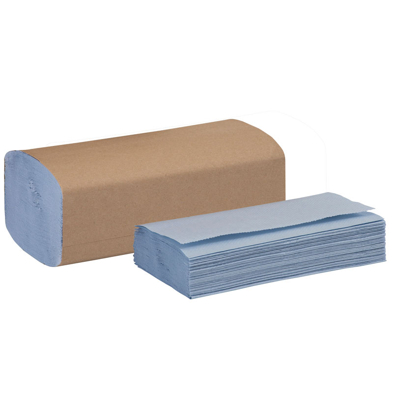 Tork Windshield Folded Paper Towels - Blue