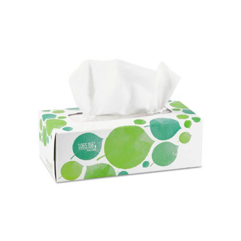 100 Recycled Facial Tissue 2 Ply Unoclean