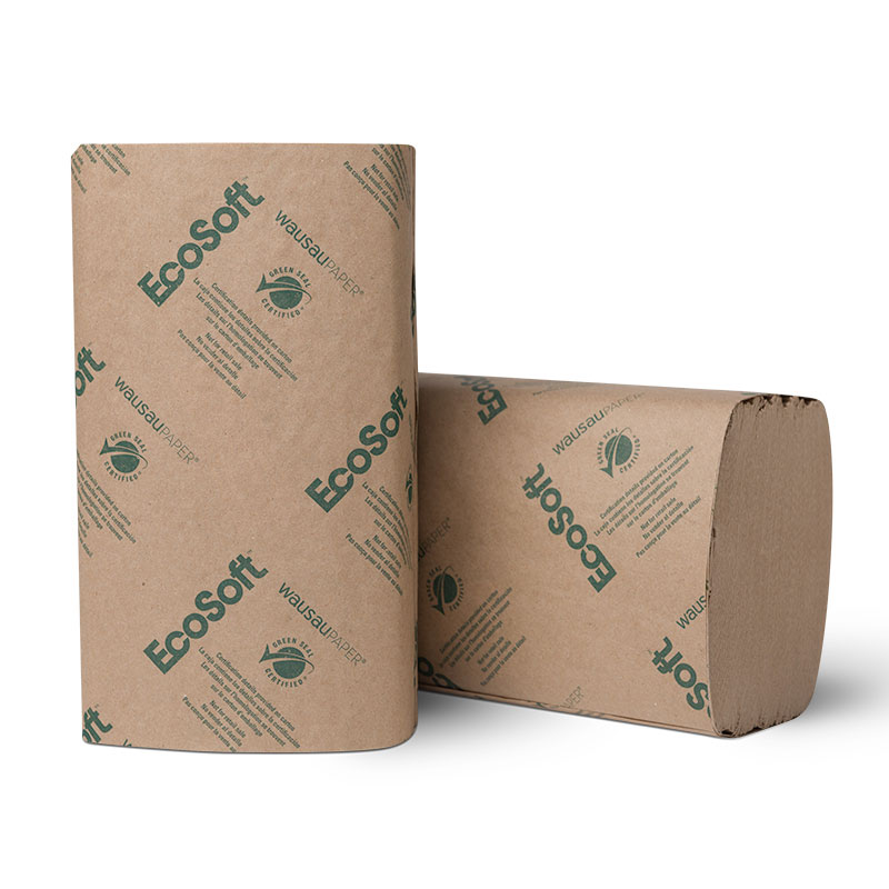 EcoSoft 1-Ply Single Fold Paper Towels
