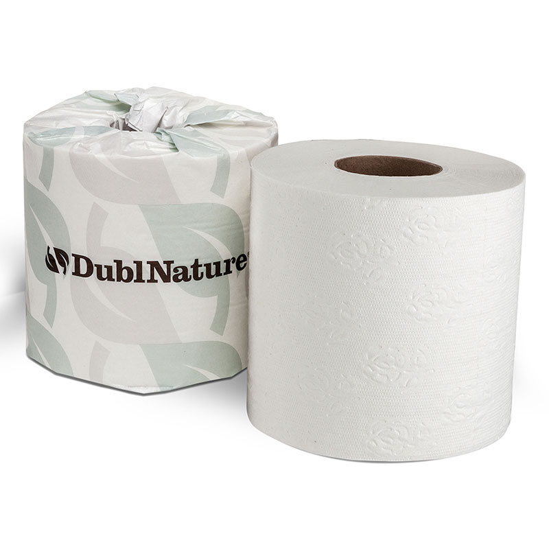 Dubl-Nature 2-Ply Universal Bathroom Tissue Roll