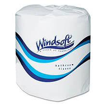 Single Embossed Bath Tissue Roll, 2-Ply - 96 Rolls WIN2200