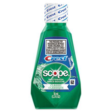 Procter & Gamble Crest + Scope Rinse, Classic Mint 36ml