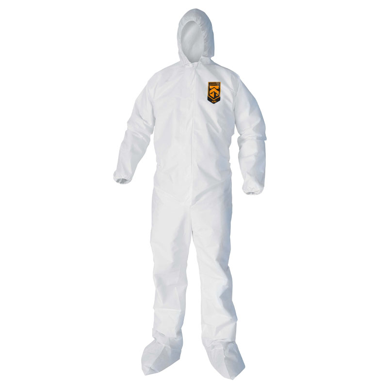 Kleenguard XP Coveralls - Zipper Front, Hood & Boots - X-Large