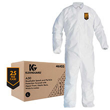 Kleenguard Large Coveralls - Elastic Back
