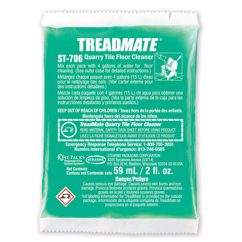One Packs Treadmate Quarry Tile Floor Cleaner 60 2 Fl