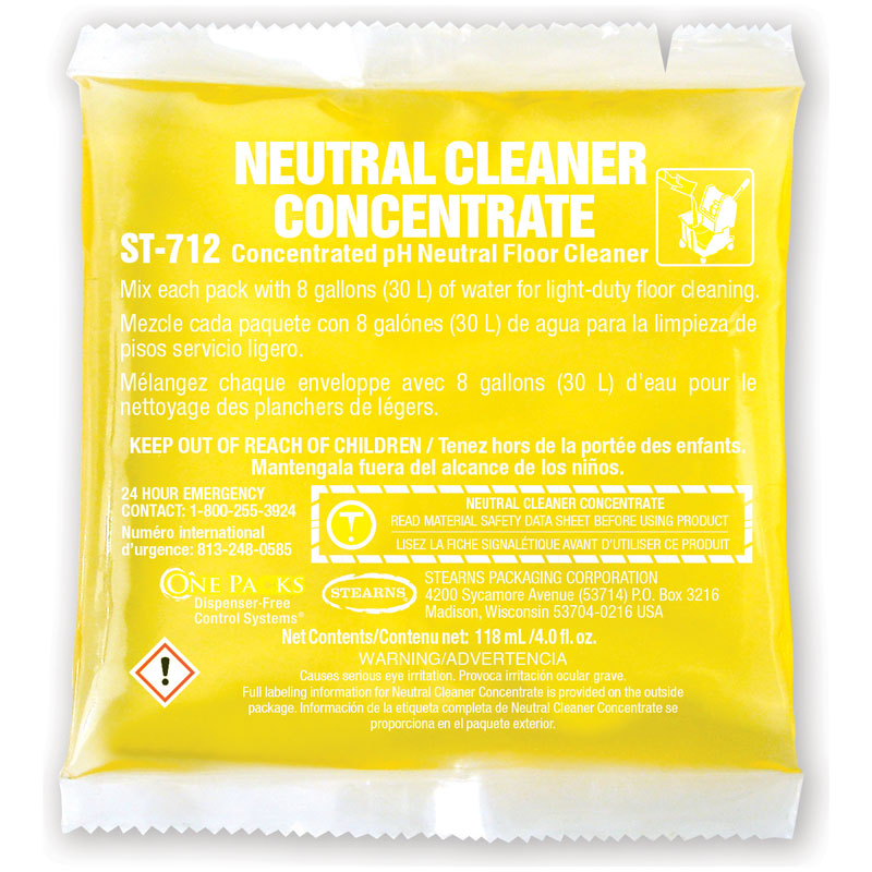 Stearns One Packs Neutral Cleaner Concentrate - (36) 4 fl. oz. Packets