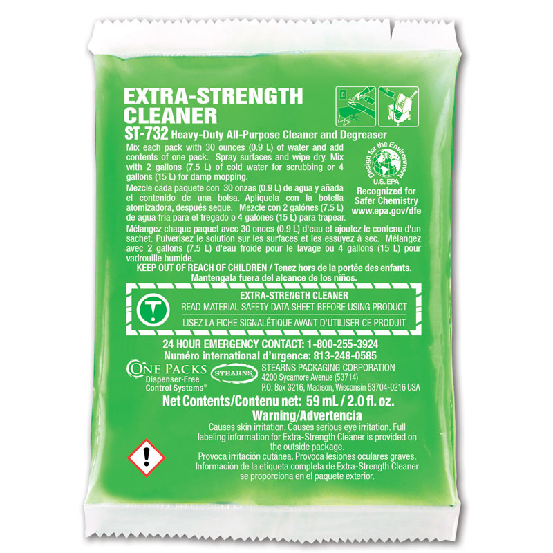 ST-732 Extra-Strength Cleaner - (72) 2 fl. oz. Packets