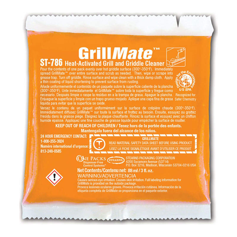 One Packs Grill Mate Grill Cleaner - (48) 3 fl. oz. Packets