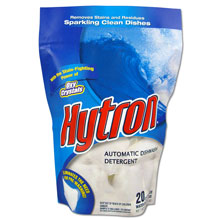 One Packs Hytron Automatic Dishwasher Water-Soluble Detergent - (6) 20 18 g Packets