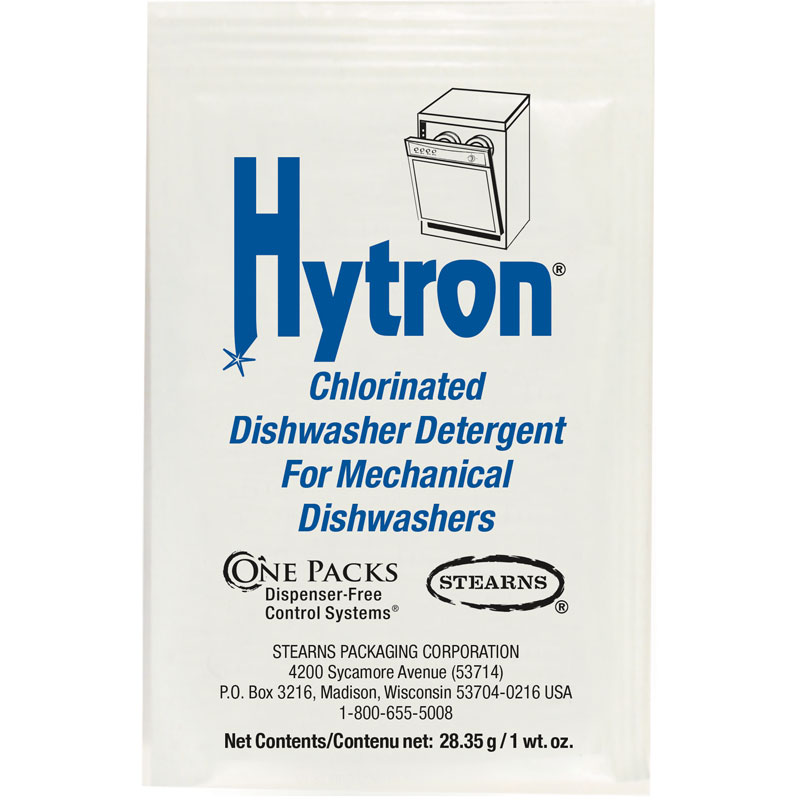 ST-708 Hytron Chlorinated Dishwasher Detergent - (84) 1 wt. oz. Packets