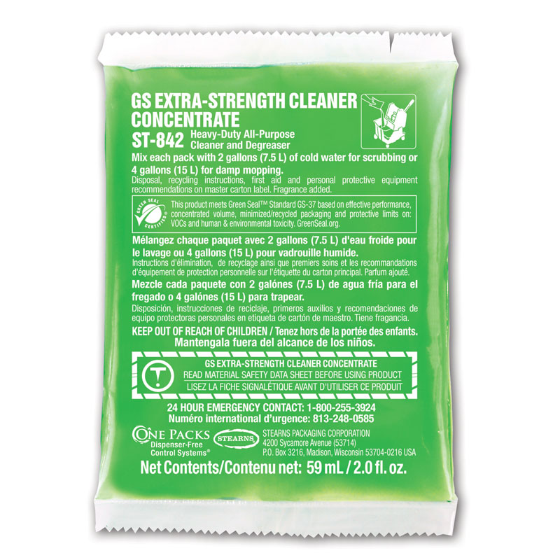 Stearns One Packs GS Extra Strength Cleaner Concentrate - (10) 10 2 fl. oz. Packets