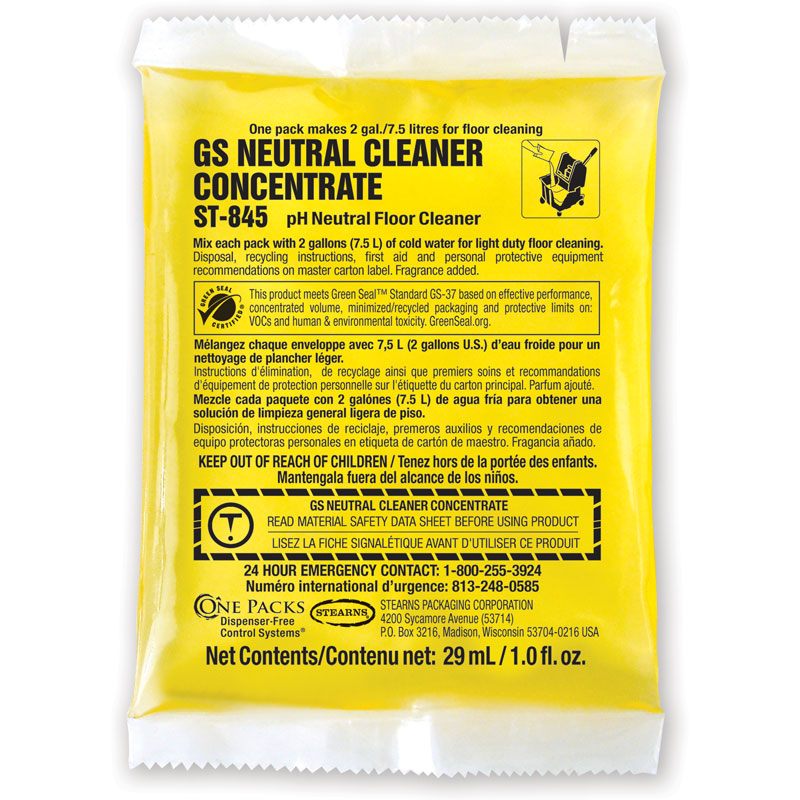 Stearns One Packs GS Neutral Cleaner Concentrate