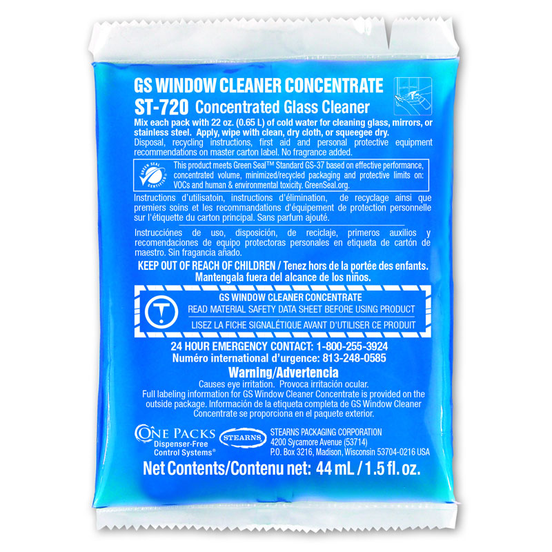 One Packs ST-720 GS Window Cleaner Concentrate Kit - 32 x 1.5 fl. oz.
