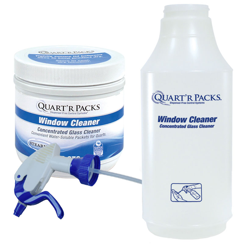 Stearns Quart'r Packs Window Cleaner w/ Spray Bottle - (1) 80 x 1.5g