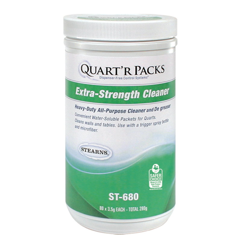 Stearns Quart'r Packs Extra-Strength Cleaner - (4) 80 x 3.5 g Containers