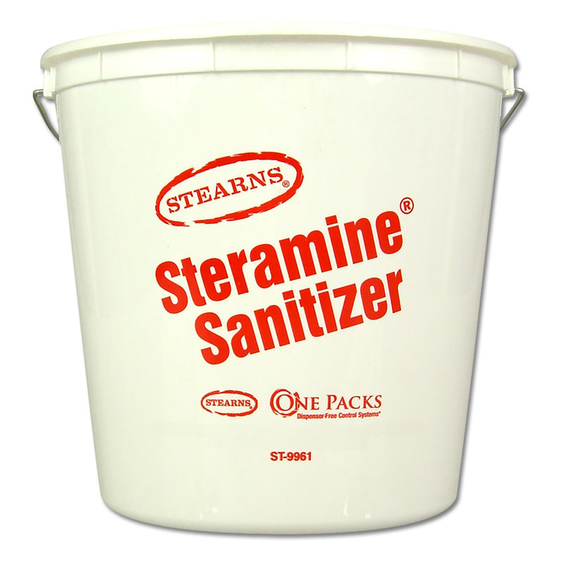 Stearns Steramine Sanitizer / Disinfectant 5 Qt. Bucket