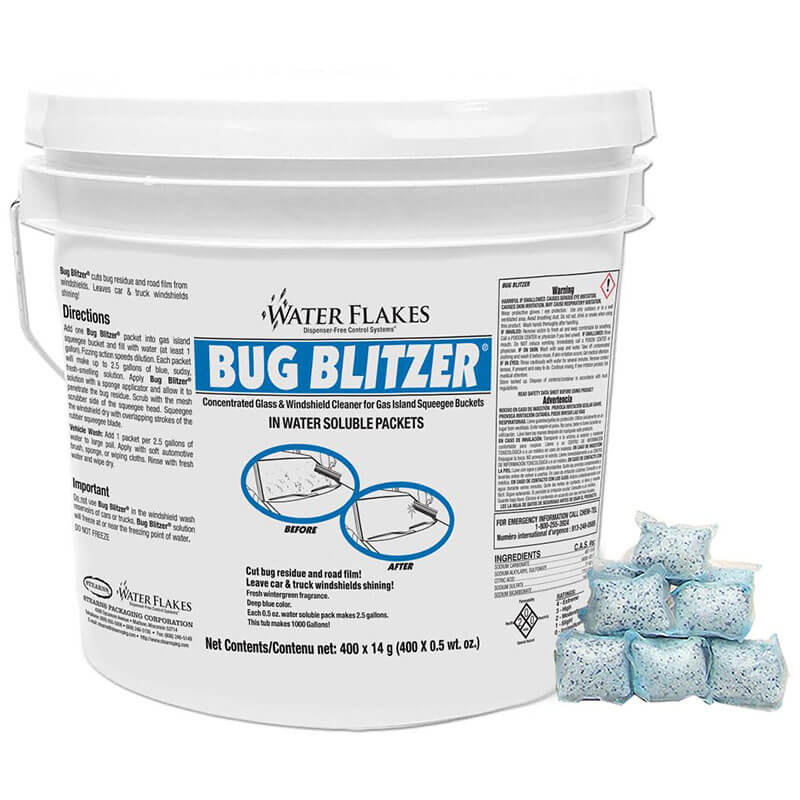 Stearns Water Flakes Bug Blitzer Windshield Cleaner - (1) 400 x 0.5 wt. oz. Tub