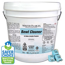Stearns Water Flakes® ST-801 Toilet Bowl Cleaner - (1) 400 x 0.5 wt. oz. Tub