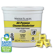 Stearns Water Flakes® ST-793 All-Purpose Cleaner & Deodorizer - (2) 90 x 0.5 wt. oz. Pails