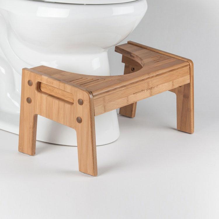 Diy Squatty Potty Stool: Bamboo Squatty Potty Toilet Stool