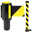 Banner Stakes Barrier System Interchangeable Yellow Banner Head