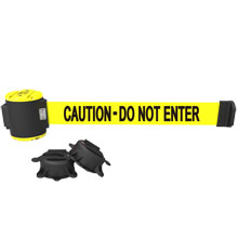 Caution - Do Not Enter Magnetic Wall Mount Banner - 30' Retractable Belt