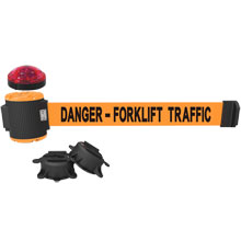 Danger - Forklift Traffic Magnetic Wall Mount Banner w/ Light Kit
