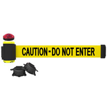 Caution - Do Not Enter Banner, Yellow - 7' Magnetic Wall Mount w/ Light Kit BST-MH7003L