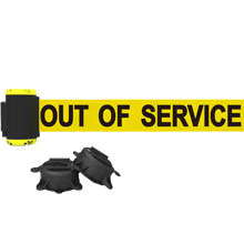 7 ft. Out of Service Magnet Wall Mount Barrier