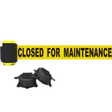 7' Closed for Maintenance Magnetic Wall Mount Banner