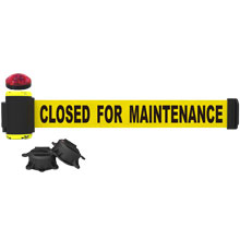 Closed for Maintenance Banner, Yellow - 7' Magnetic Wall Mount w/ Light Kit BST-MH7006L