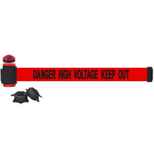 High Voltage Keep Out Banner, Red - 7' Magnetic Wall Mount w/ Light Kit BST-MH7009L