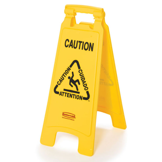 2-Sided Folding Floor Sign - Caution