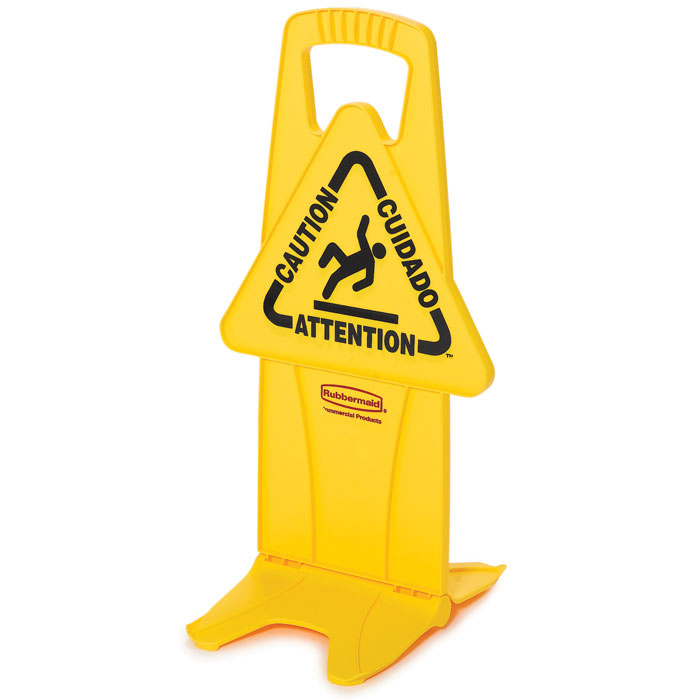 Stable Multi-Lingual Safety Sign RCP9S09YEL