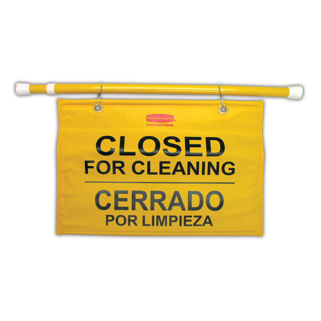 Rubbermaid Commercial Site Safety Hanging Sign RCP9S16YEL